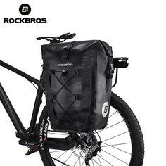 740e09f1ddf ROCKBROS Waterproof Bike Bag 27L Travel Cycling Bicycle Bag Rear Rack Tail  Seat Trunk Bags Pannier