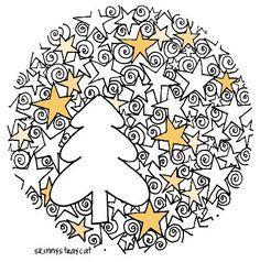 leuke prent voor kerst, kan ook in een kaart gemaakt worden!   Cute drawing, it can be used as a card also