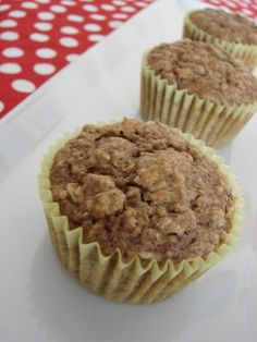 Healthy Applesauce Oat Muffins that the kids devoured!