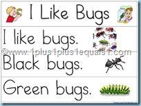 "Pocket Chart Printables ""I Like Bugs"" and other books too."
