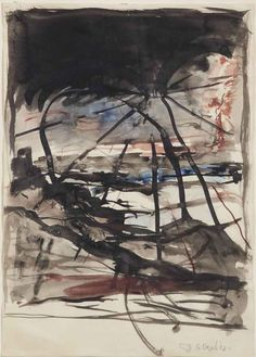 Georg Baselitz (German, b. 1938), Landschaft, c.1961.