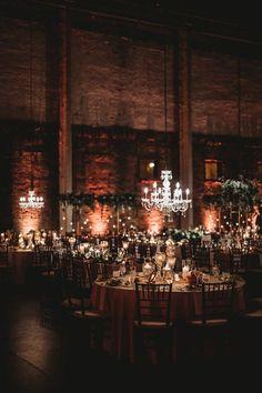 Romantic Wedding Receptions, Wedding Reception Decorations, Romantic Weddings, Vintage Weddings, Unique Weddings, Country Weddings, Decor Wedding, Warehouse Wedding Decor, Loft Wedding Reception