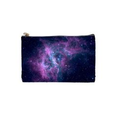 Galaxy Nebula Space Cosmetic Bag, Makeup Bag ($14) ❤ liked on Polyvore