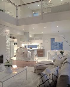 Hem_inspiration Inspiration For Your Home — Photo from: . Dream House Interior, Dream Home Design, Modern House Design, Interior Design Inspiration, Home Interior Design, Dream Rooms, House Rooms, Cozy House, Living Room Designs