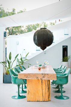 sea green dining chairs