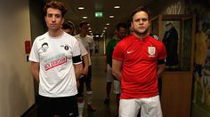 POP STAR Olly Murs's team taught Nick Grimshaw's Radio 1 side a footballing lesson in a challenge match at St George's Park.