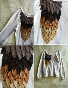 DIY sweater embellishment- or on the sleeve! Love!