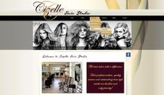 WEBSITE DESIGN for Cizelle Hair Studio created by Design so Fine Website Designs, Ghd, Hair Studio, Design Websites, Website Layout, Web Design