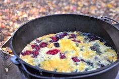 Blackberry And Blueberry Dutch Oven Cobbler