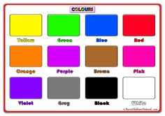 Printable Colours Posters