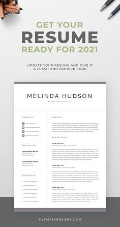 Your resume is a key element to a successful job search. Keep it current and ready so you don't miss out on any opportunities in 2021 - update your information, add new achievements and skills, remove anything that is no longer relevant, and make sure your resume looks modern and fresh. Kick-start your resume refresh by investing in a professionally designed resume template to build an eye-catching resume faster and easier, and get ahead of the competition.