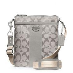 Coach Legacy Swingpack In Signature Fabric ($128) ❤ liked on Polyvore featuring bags, handbags, shoulder bags, purses, accessories, coach, crossbody handbag, handbags shoulder bags, crossbody shoulder bags and handbags purses