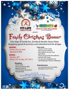 Partygrenada.com: Fit for Life & Mitchells Health & Wellness Family Christmas Bazaar Dec 20th & Dec 22nd - 24th, 2014