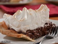 Chocolate Meringue Pie - The perfect dessert to make for your sweetie on Valentine's Day!