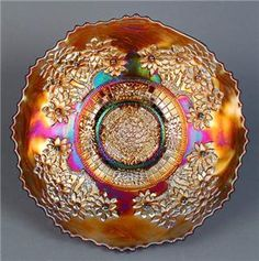 "Fenton Amethyst Carnival Glass Orange Tree 9"" Plate"