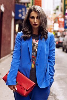 New York Fashion Week | wearing a Chloe bag, an Iron Maiden shirt from Topshop and a blazer from Joseph | street style