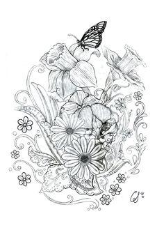 Floral_Tattoo.jpg (750×1050)