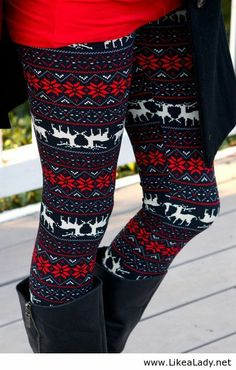 Christmas leggings, kinda like them
