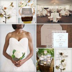 Magnolia Wedding Inspiration via AislePlanner.com