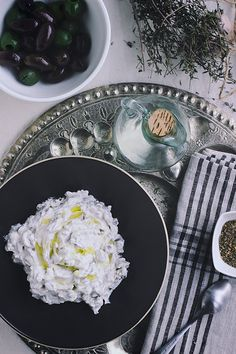 FOOD: Homemade Labneh with Olives and Za'atar