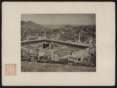 Zweite Ansicht der Stadt Mekka über die nordwestliche (rechts) und die südwestliche Seite (links) der Moschee hinaus