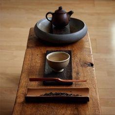 A beautiful tea setting.
