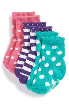 Robeez® 'Color Box' Socks (3-Pack) (Baby & Walker) available at #Nordstrom