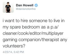 I volunteer as tribute! (But what about Phil?!)