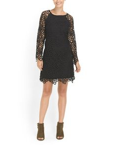 Rose Crochet Lined Dress