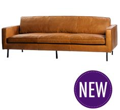 Coffee Leather Sofa – 2 or 3 Seater