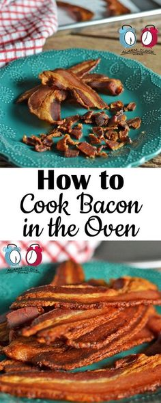 How to Cook Bacon in the Oven on Alarm Clock Wars. You won't believe how easy it is to cook bacon in the oven. Once you try it, you'll never want to go back to messy stovetop bacon frying again!