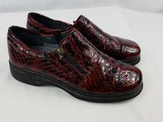 Helle Romus Size 8.5 Womens Brown Patent Leather Slip On Loafers EUR 39 Shoes   Clothing, Shoes & Accessories, Women's Shoes, Flats   eBay!
