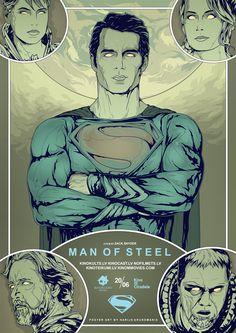 MAN OF STEEL alternative poster art by Harry Grundmann www.harrymovieart.com