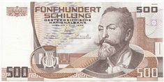 Otto Wagner on the old 500 schilling note. Almost 40 euro in today's money Career Clusters, Otto Wagner, Tirol Austria, Retro Vintage, Old Things, Things To Come, Gold Money, Saving For Retirement, Childhood Memories