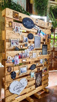Mural de fotos casamento Pallet Backdrop, Flower Wall Backdrop, Engagement Decorations, Wedding Decorations, Wedding Cards Handmade, Photography Themes, Cute Wedding Ideas, Deco Table, Wedding Story
