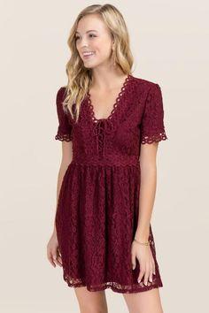 Megan Lace Up Dress