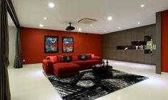 modern home design 13 - Freshome article- red black grey and white bold striking masculine dramatic
