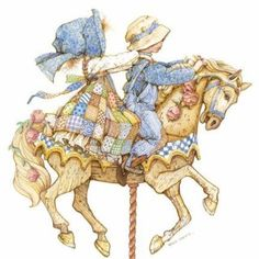 holly hobbie...riding the carousel