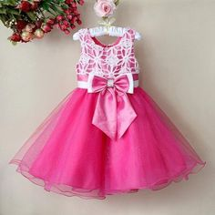 Girls-Flower-Party-Birthday-Wedding-Bridesmaid-Dress-1-8-Years