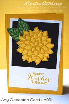 Handmade Cards - Any Occasion (For You, Best Wishes, Sending Wishes, etc)