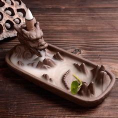 Backflow Incense Burner Home Decor Ceramic Dragon Stick Incense Holder Buddhist Smoke Waterfall Censer + Incense Cones Ceramic Incense Holder, Incense Cones, Cool Things To Buy, Decoration, Waterfall, Creations, Resin, Gifts, Home Decor