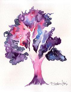 Cosmic Tree 24x32 cm Watercolor