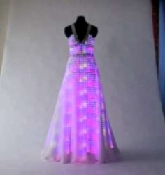 Glowing LED Gowns: The Aurora Dress by CuteCircuit is for Classy Ravers