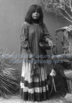 "Apache woman, ""Cittie Mittie,"" holding basket and awl canes, S.L., C.1890"