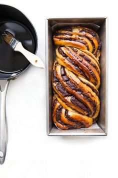 Chocolate Babka - it's doughy & chocolate-y, & braided to perfection! Serve this w/ a nice cup of coffee as an after dinner treat or w/ an espresso for morning brunch.