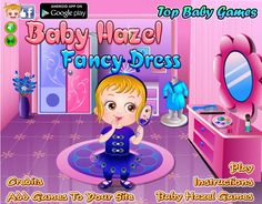 """Baby Hazel is excited to participate in amazing fancy dress competition with a theme """"Birds and Animals"""". She put on peacock costumes and participates in a small play along with her friends in the competition. Enjoy fancy dress competition with Hazel! http://www.topbabygames.com/baby-hazel-fancy-dress.html"""