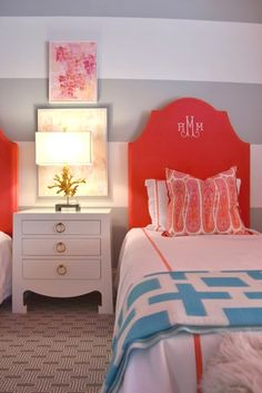 Love the stripes. Wanna do something like this in Sages room, and the play room.