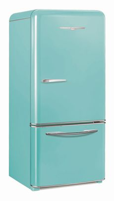 Robin's Egg Blue Northstar retro refrigerator by Elmira Stove Works