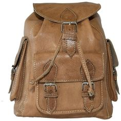 Leather Backpacks | Leather Rucksacks | Festival Bags ($31) ❤ liked on Polyvore featuring bags, backpacks, backpack, accessories, leather backpack, leather gladstone bag, leather doctor bag, leather travel backpack and brown leather satchel