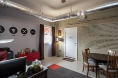 Corner office with coworking/meeting space